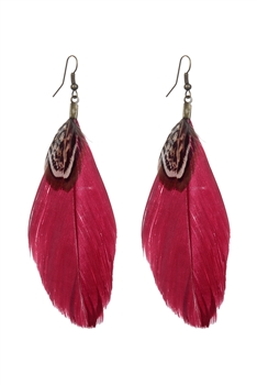 Simple Feather Earrings E2316