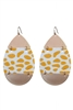 Leopard Pattern Metal Drop Earrings E2320 - Yellow