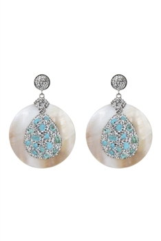 Large Round Shell Earrings E2355