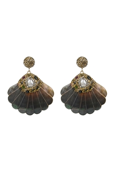 Large Pearl Shell Drop Earrings E2365