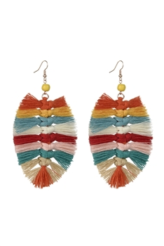 Bohemian Braided Tassel Earrings E2381
