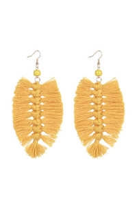 Bohemian Braided Tassel Earrings E2381 - Yellow