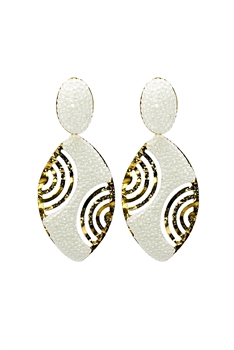 Oval Crystal Gold Planted Earrings E2433