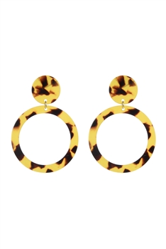 Hollow Circle Acrylic Earrings E2467