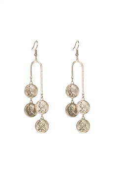 Gold Medal Dangle Metal Earrings E2477