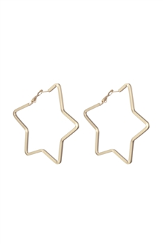 Star Shaped Hoop Earrings E2493