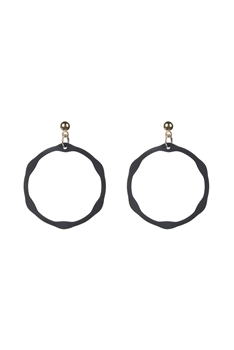 Classic Circle Drop Earrings E2499 - Black