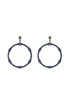 Classic Circle Drop Earrings E2499 - Blue
