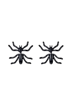 Black Spider Stud Earrings E2517