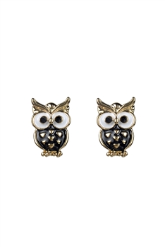 Vintage Owl Stud Earrings E2521