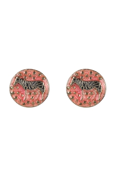 Vintage Zebra Stud Earrings E2523