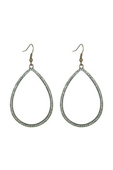 Metal Hollow Water Drop Earrings E2583
