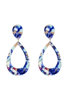 Hollow Teardrop Acrylic Earrings E2584
