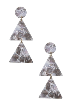 Layered Triangle Acrylic Earrings E2585