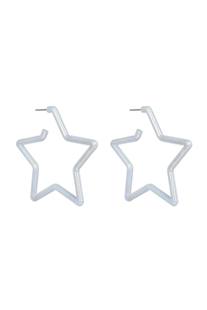 Star Shaped Hoop Earrings E2617
