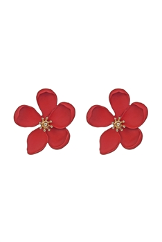 Flower Shaped Metal Stud Earrings E2631