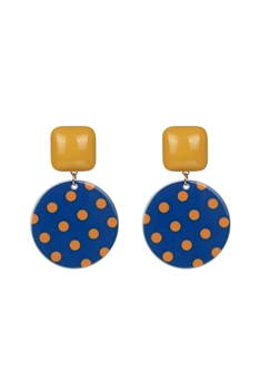 Sweet Round Wave Point Earrings E2638