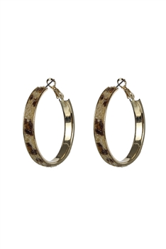 Artificial Fur Hoop Earrings E2641