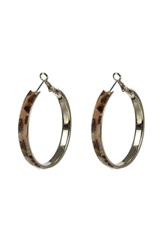 Artificial Fur Hoop Earrings E2643
