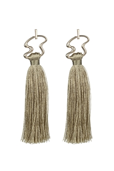Irregular Metal Tassel Earrings E2647 - Brown