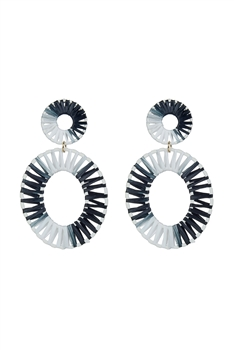 Bohemian Braided Circle Earrings E2678 - Black