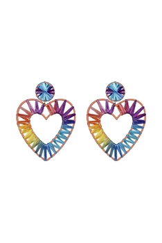 Bohemian Braided Heart Earrings E2683