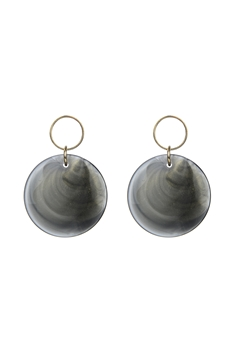 Round Candy Colored Earrings E2724 - Grey