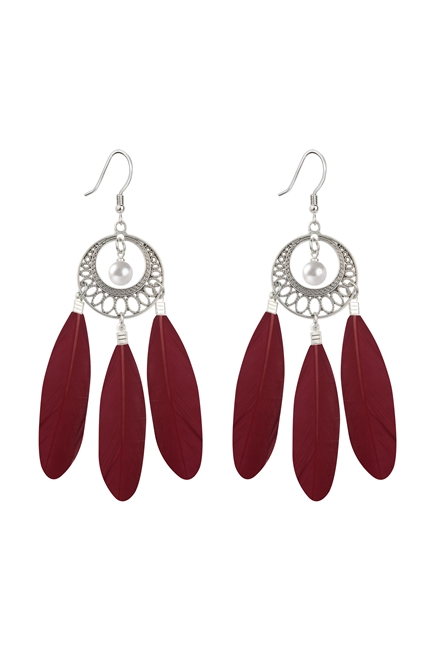 Bohemian Feather Earrings E2764