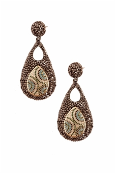 Teardrop Crystal Drop Earrings E2801
