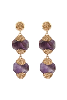 Amethyst Dangle Earrings E2806