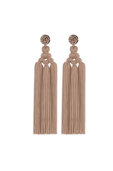 Chinese Knot Tassel Earrings E2810 - Champagne