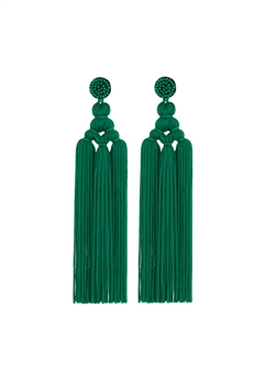 Chinese Knot Tassel Earrings E2810 - Green