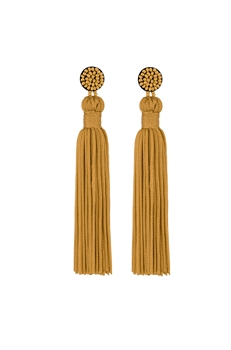 Texile Tassel Earrings E2812 - Ginger