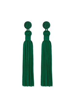 Texile Tassel Earrings E2812 - Green