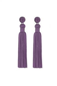 Texile Tassel Earrings E2812 - Purple