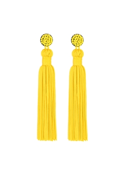 Texile Tassel Earrings E2812 - Yellow