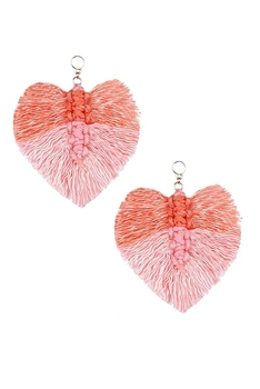 Tassel  Braided Earrings E2831 - Pink