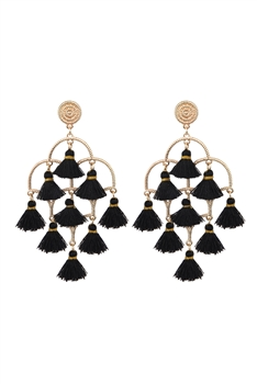 Chandelier Tassel Earrings E2836 - Black