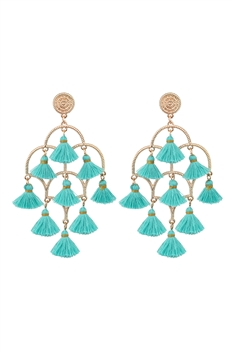 Chandelier Tassel Earrings E2836 - Blue