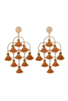 Chandelier Tassel Earrings E2836 - Brown