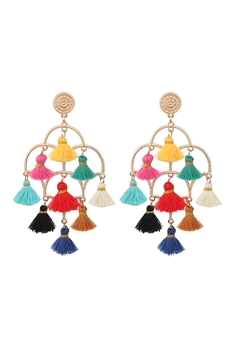 Chandelier Tassel Earrings E2836 - Multi