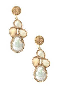 Baroque Freshwater Pearl Earrings E2894
