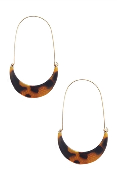 Acrylic Crescent Earrings E2917 - Brown