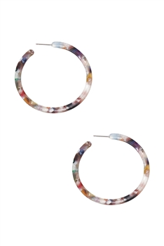 Acrylic Hoop Earrings E2921 - Multi
