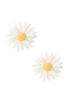 Acrylic Flower Stu Earring E2922 - White