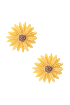 Acrylic Flower Stu Earring E2922 - Yellow