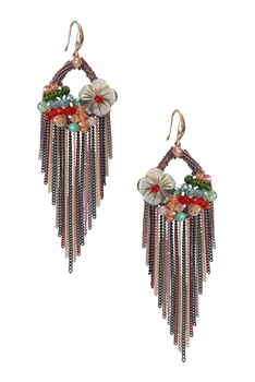 Tassel Chain Earrings E2937 - Multi