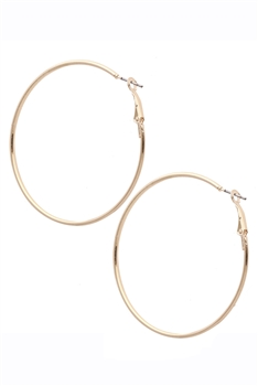 Alloy Circle Hoop Earrings E2945 - Gold