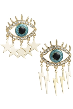 Devil's Eye Tassel Earrings E3012