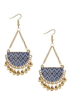 Bohemia Alloy Tassel Earrings E3044-BLUE